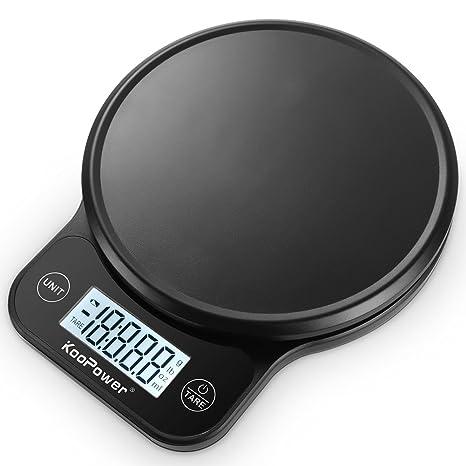 Báscula de cocina digital de 6 kg con plataforma de plástico, peso preciso en gramos