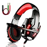 Amazon Price History for:ECOOPRO Stereo Gaming Headset with Microphone  3.5mm Over Ear Headphones  LED Lights & In-line Volume Control for PS4, PC, MAC, Mobiles (Red)
