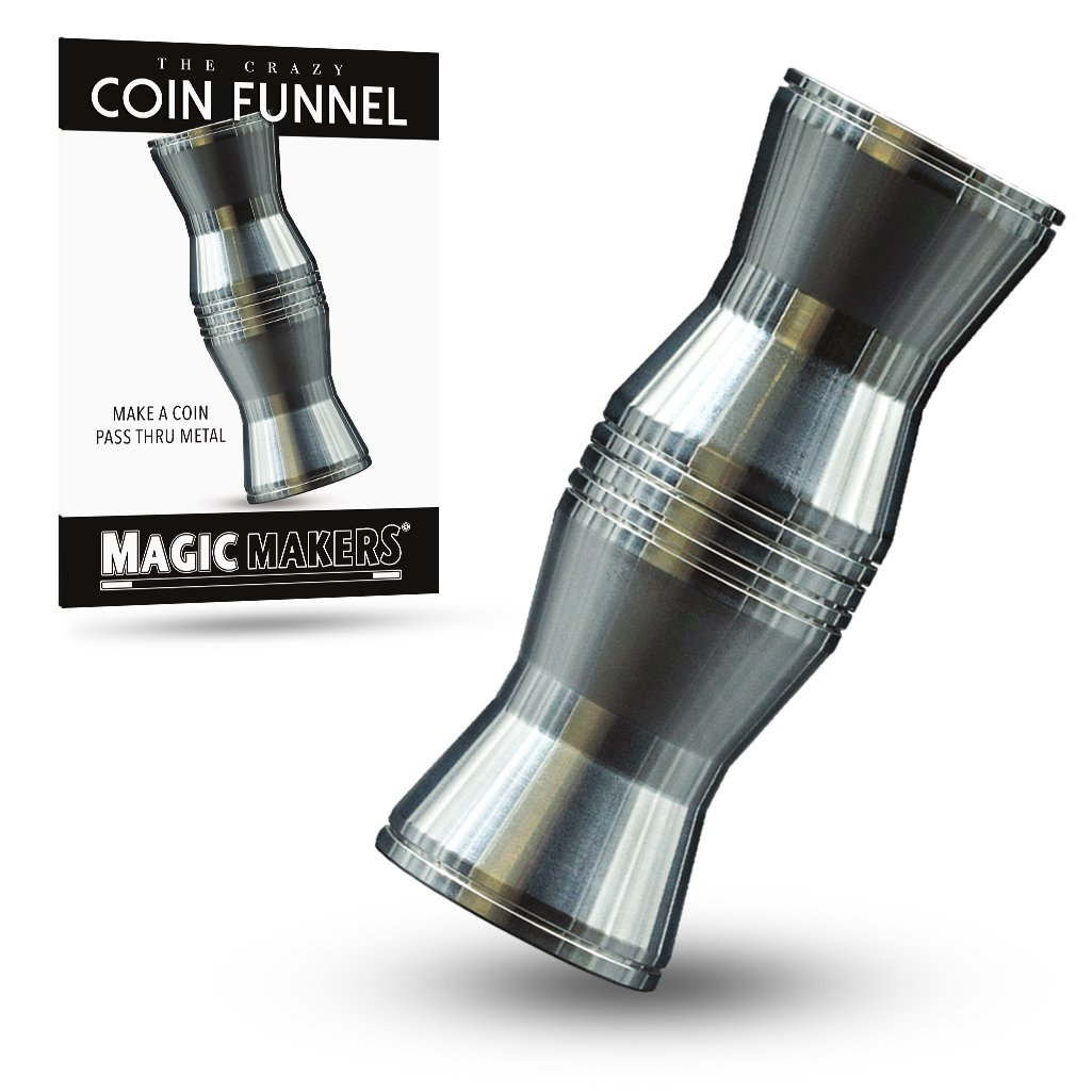 Magic Makers Crazy Coin Funnel Trick - Make A Coin Pass Through Metal