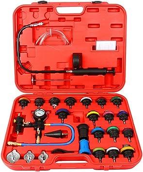DPL TOOLS 28Pcs Universal Radiator Pressure Tester Vacuum Type Cooling System Test Detector Set Testeur water tank pressure gauge
