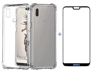 AILZH Funda Huawei P20 Lite Transparente Silicona TPU 360 Grados Carcasa Case Cover Flexible Antideslizante Teléfono Protection para Huawei P20 ...