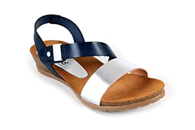 91021f681 Yokono Women s Thong Sandals Silver Silver Size  4  Amazon.co.uk ...