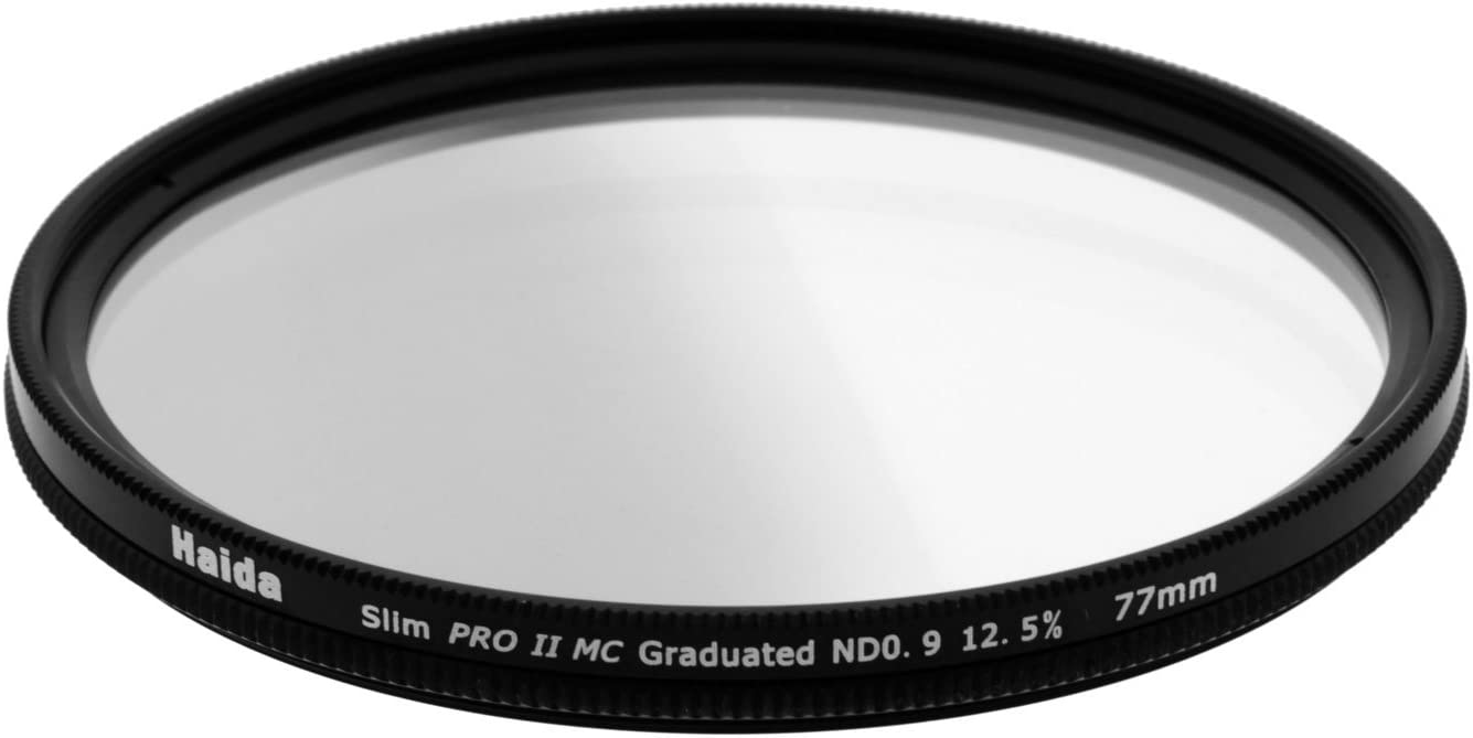 Haida Slim PROII Multi-Coating Split Gradual Graduated Neutral Density ND0.9 ND8 to 0 Filter 77mm