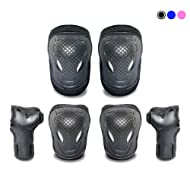 NESSKIN Kids Skateboard Gear Knee Pads Elbow Pads Wrist Guards Protective Gear Set for Biking, Riding, Cycling and Multi Sports Safety Protection: Scooter, Skateboard, Bicycle, Inline Skating