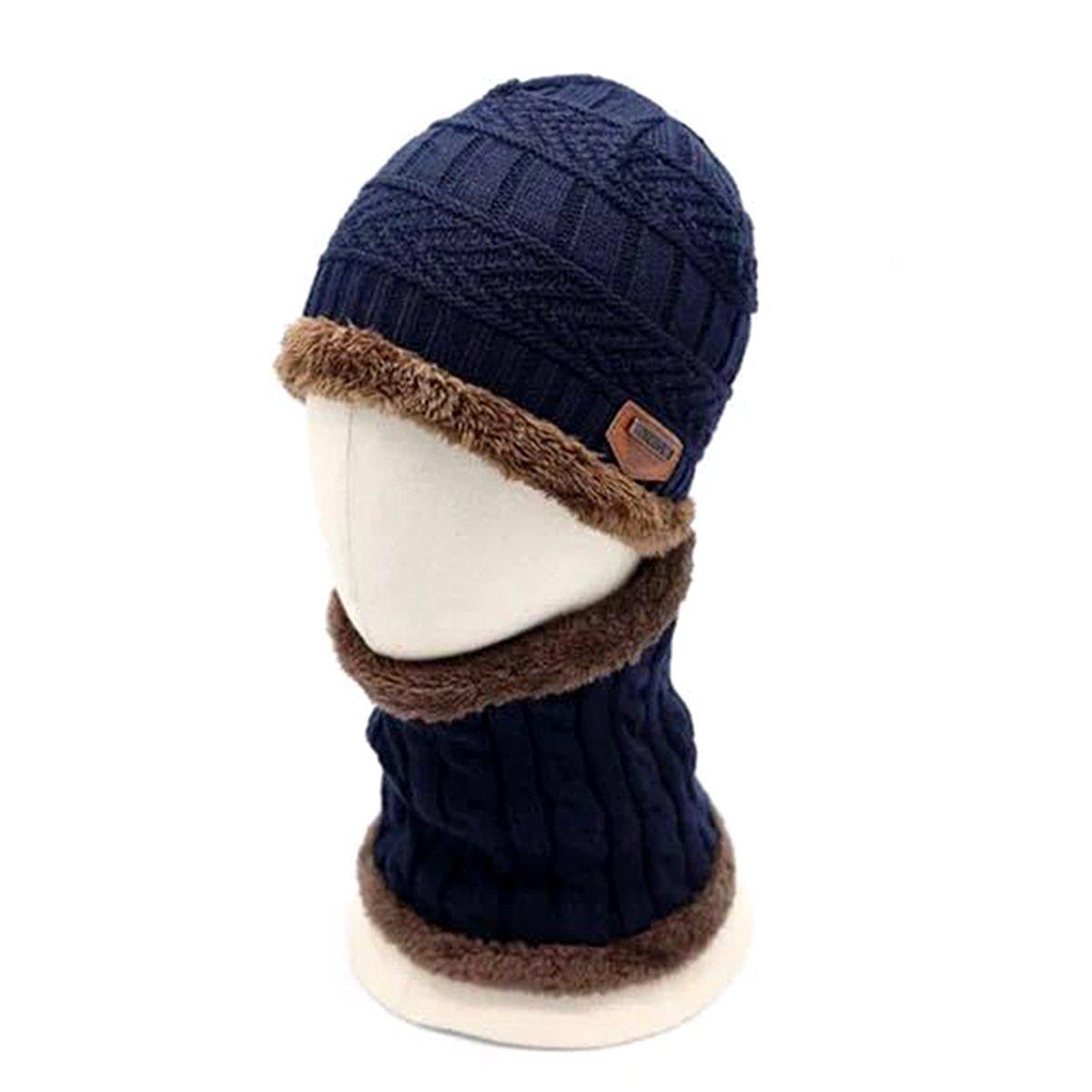 Butterme Winter Baby Girls Boys Fleece Beanie Hat and Scarf Set Warm Crochet Slouch Hat and Neck Warmer Set(Dark grey) ZUMUii ZUMU00006151