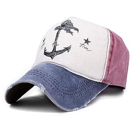 Goodsatar Hombres Mujer Gorra de beisbol Deportes al aire libre casuales  Sombreros Snapback (Azul) 37baad700e2b