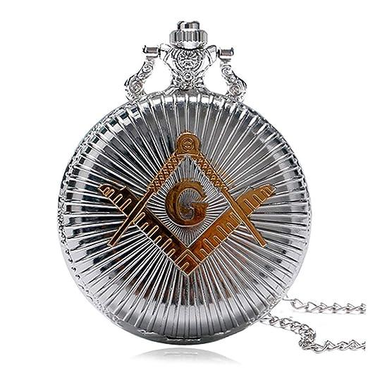 Masons Freemasonry Pocket Watch Women Men Vintage Pendant G Gob Watches Gift