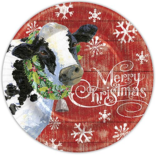 Punch Studio Christmas Dining Paper Dinner Plates – Joy To The Farm