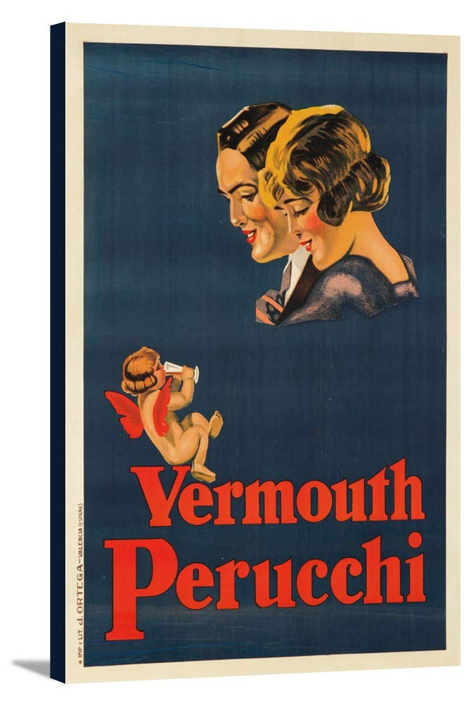 Vermouth PerucchiヴィンテージポスタースペインC。1922 24 x 36 Gallery Canvas LANT-3P-SC-62003-24x36 B018SIPRS0  24 x 36 Gallery Canvas