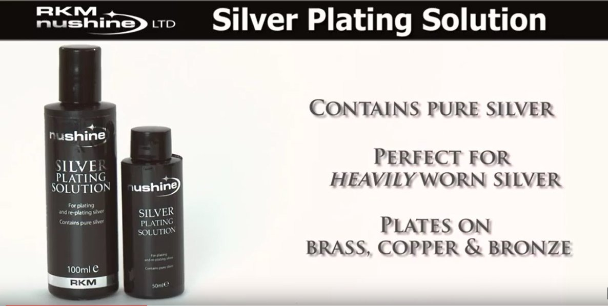 COPPER AND METALS WITH REAL SILVER SILVER PLATING SOLUTION PLATE YOUR BRASS