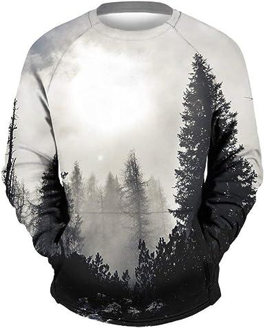 Suéter Unisex Impreso En 3D Navidad Navidad Sudadera Hombre Tops para Camisas Cómodo Jumper De Manga Larga Camiseta: Amazon.es: Ropa y accesorios