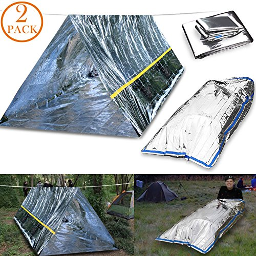 EMDMAK Emergency Mylar Thermal Survival Tent ...  sc 1 st  Disaster Readiness Portal & EMDMAK Emergency Mylar Thermal Survival Tent and Sleeping bag ...