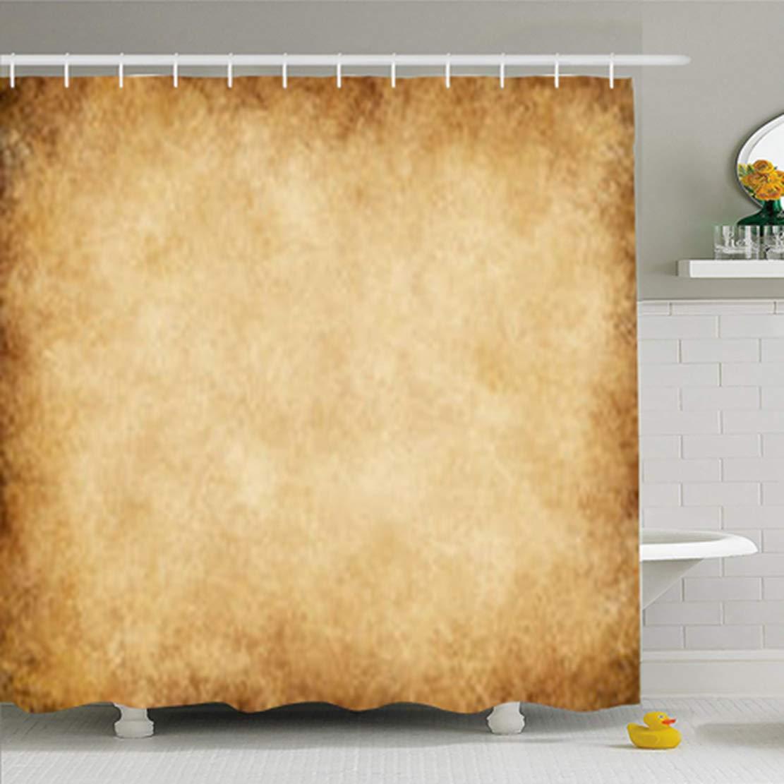 InnoDIY Shower Curtains Bathroom 66 x 72 Inches Purple Pastel Pink Pale Simple Vintage Color Waterproof Home Decor Bath Set Hooks