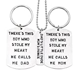 Amazon Price History for:O.RIYA Christmas Gifts Fathers Mothers Birthday Jewelry Necklace Gift, Mommy Daddy Son Stole Heart Set Little Boy Kids Love Mothers Day Fathers Pendant Necklace Set of 3, Gift for Daughter