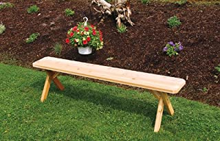 product image for Outdoor 3 Foot Cross Leg Pine Picnic Bench ONLY - Painted- Amish Made USA -Black
