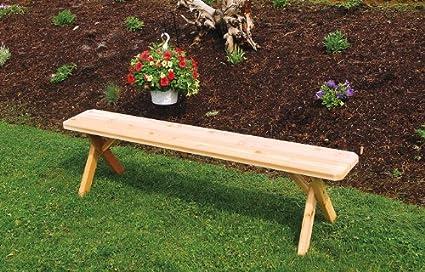 Astonishing Amazon Com Outdoor 5 Foot Cross Leg Pine Picnic Bench Only Uwap Interior Chair Design Uwaporg
