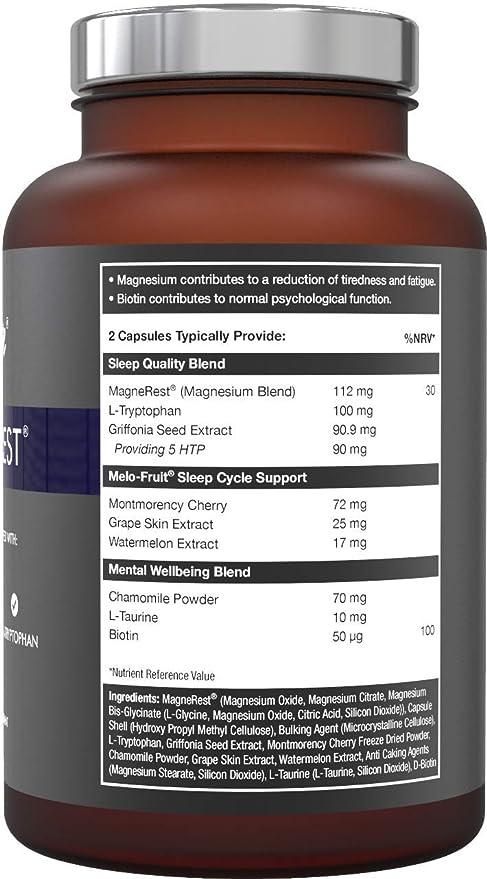5-HTP + magnesio + melatonina natural para el sueño - Montmorency ...