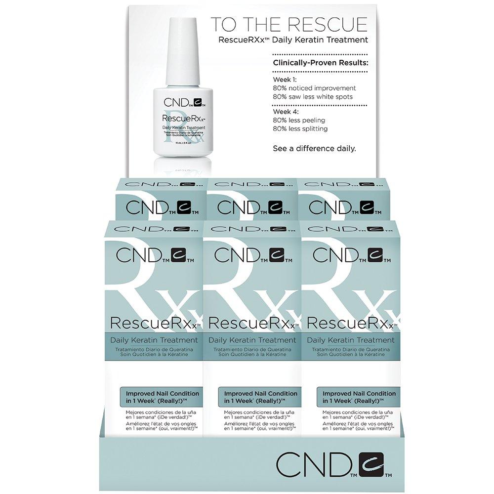 Amazon.com: CND RescueRxx Daily Keratin Treatment, Pack of 6: Luxury ...