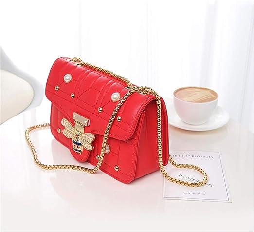 4e1ab4edceba Amazon.com: LIUGHGB Designer Women Shoulder Bag Chain Strap Flap S ...