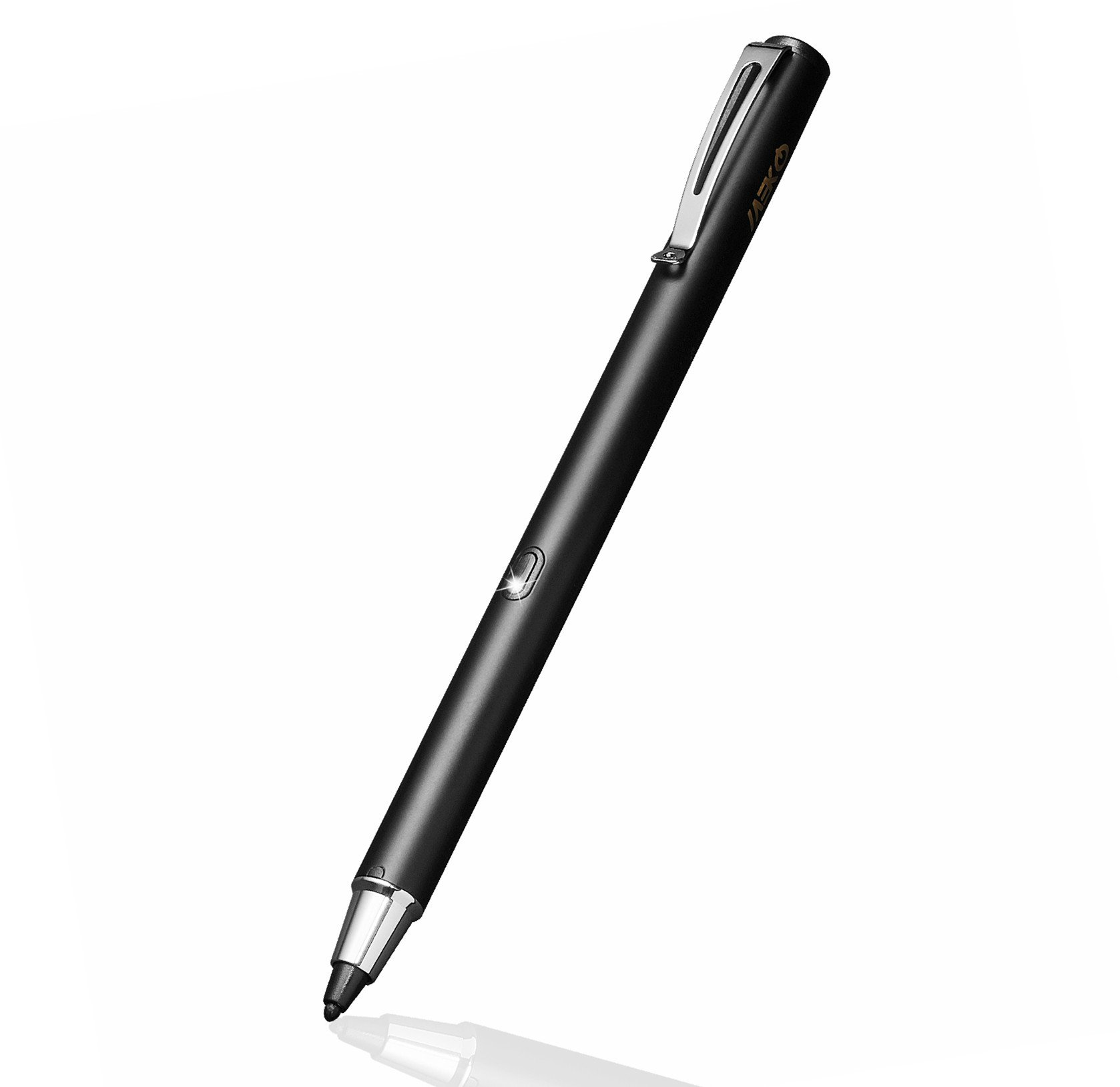 MEKO Stylus Pens Rubber Tip Rechargeable Active Stylus 1.9mm -Perfect for Drawing and Handwriting Only Compatible W/iOS and Andriod Touchscreen Cellphones, Tablets-(Black)