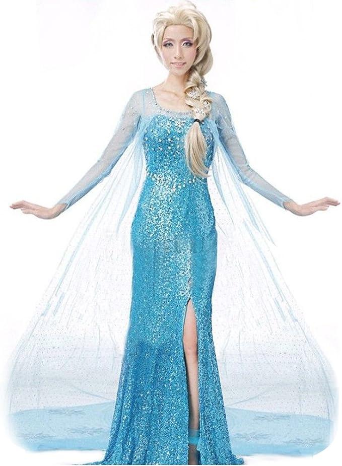 El Reino del Hielo Vestido de Princesa Elsa como Adulto para ...