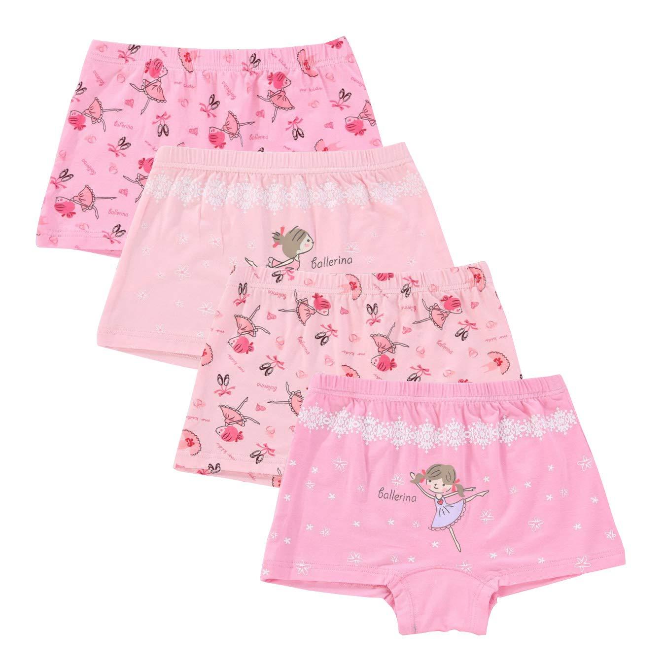 CHUNG Toddler Little Girls 95/% Cotton Panty Underwear Boyshort Brief 3-9Y Pack of 4
