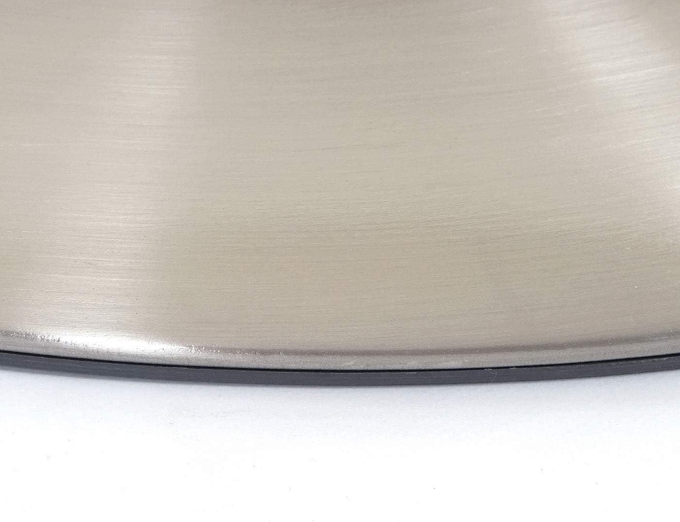 2X Plateau de Sol pour Tabouret de Bar, Chaise pivotante, Chaise de Salle à Manger, métal brossé ~ Ø 38,5cm Ø 45cm