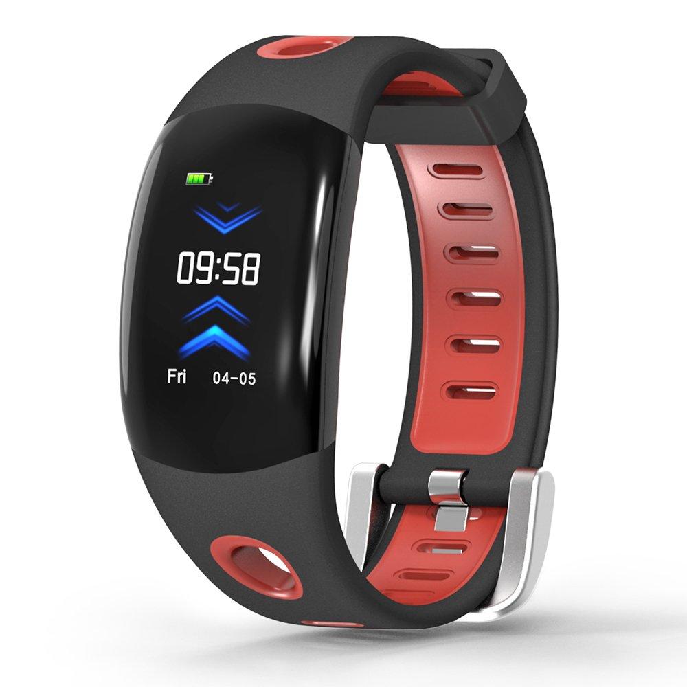 LATITOP Fitness Frauen Fitness Smartwatch mit Große 3D-Farbdisplay, Pulsmesser, Schrittzähler, Kalorienverbrauch Zähler, Schlaf-Monitor, Stoppuhr, wasserdichte Smartwatch, kompatibel mit Android IOS (Rot)