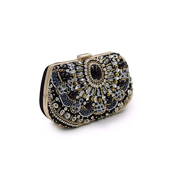 WYGmadlifeqq Borsa da Donna con Diamanti Vintage per Perline
