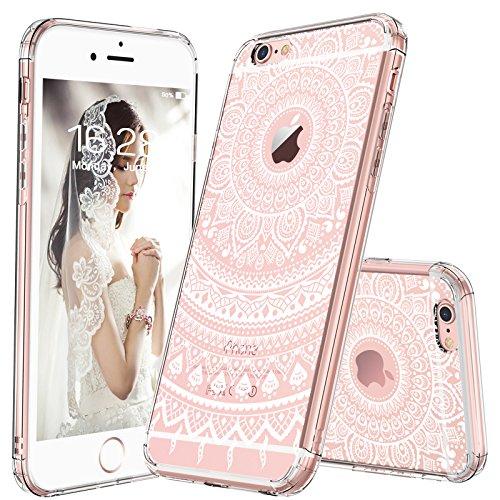 iphone 6 case, clear iphone 6s case, mosnovo white henna mandala