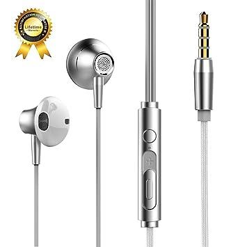 Auriculares con Cable y Micrófono In Ear Headphone Sonido Estéreo ...