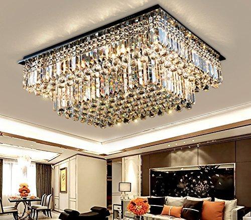rectangular flush mount ceiling light led surface mount siljoy modern raindrop crystal chandelier lighting rectangular flush mount ceiling light fixture l354quot