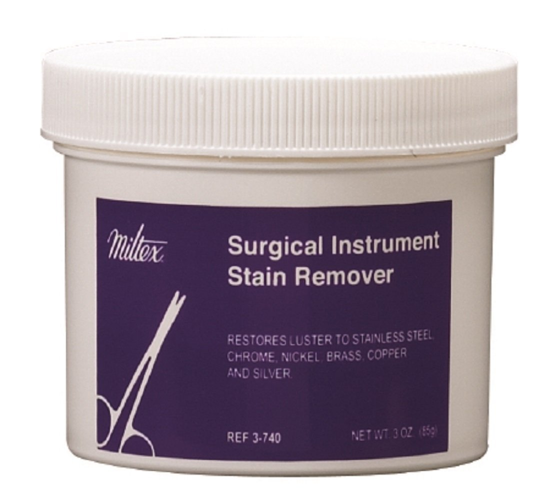 Miltex Surgical Instrument Stain Remover Powder, 3 oz Jar - 1/Each