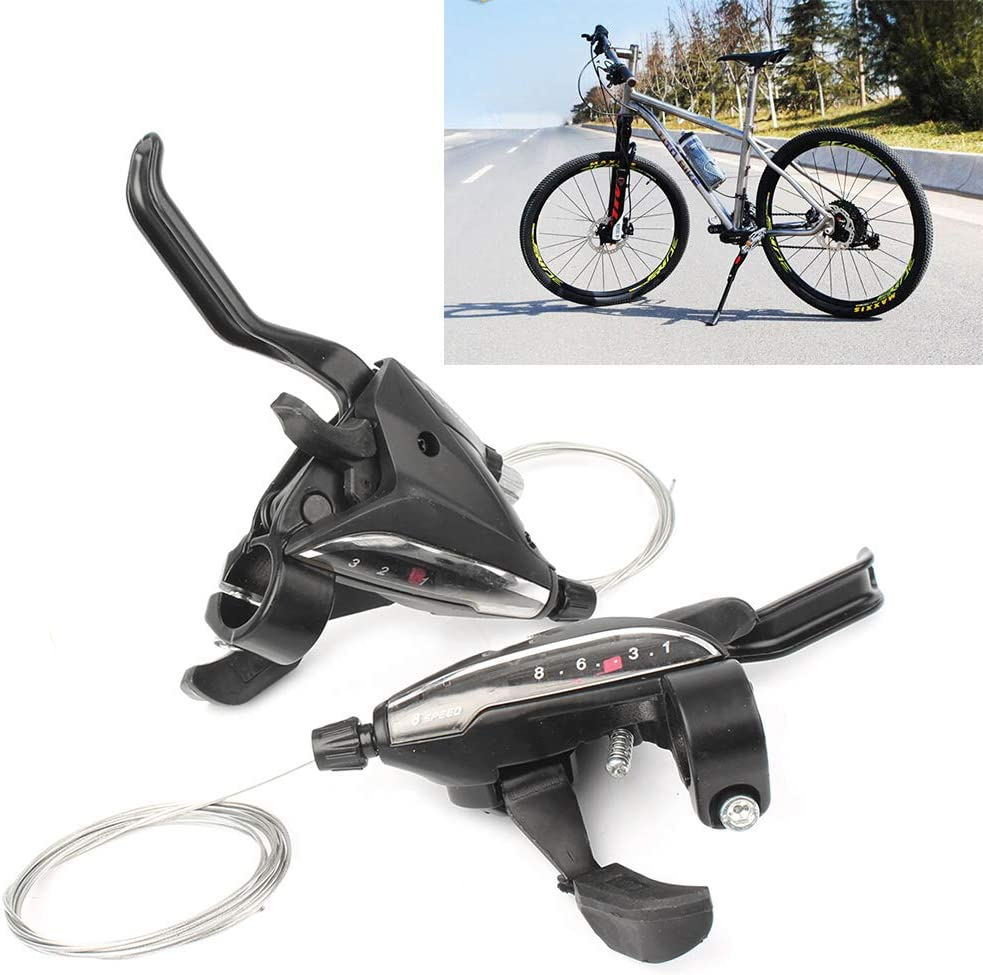 Three T Bicycle brake lever shift lever set with brake cable ST-EF65-8 MTB 3 x 8 speed gear shift for bicycles racing bike mountain bike