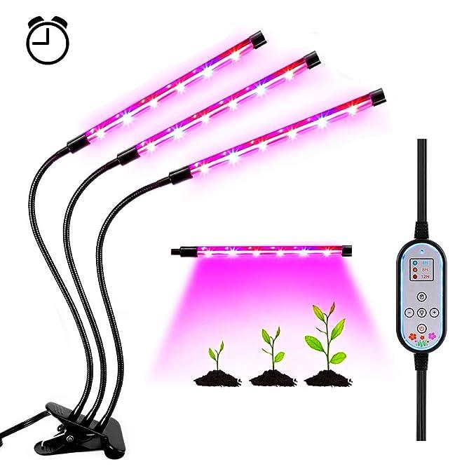 26 opinioni per Lampada Piante Coltivazione LED Indoor 36W Luce Crescita Coltiva Interno Light