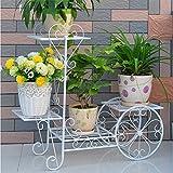 kitchen 67 brunch YAOBAO Garden Cart Stand, Flower Plant Display Rack,Garden Tree Home Decor Patio Plant Stand Holder,White