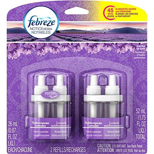 Febreze NOTICEables Mediterranean Lavender Air Freshener, 0.87 fl oz, 2 count
