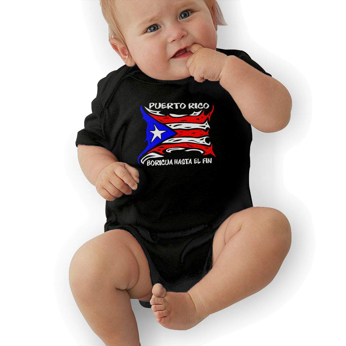 Puerto Rico Flag Newborn Baby Girl Boy Romper Jumpsuit Outfit Short Sleeve Bodysuit Tops Clothes