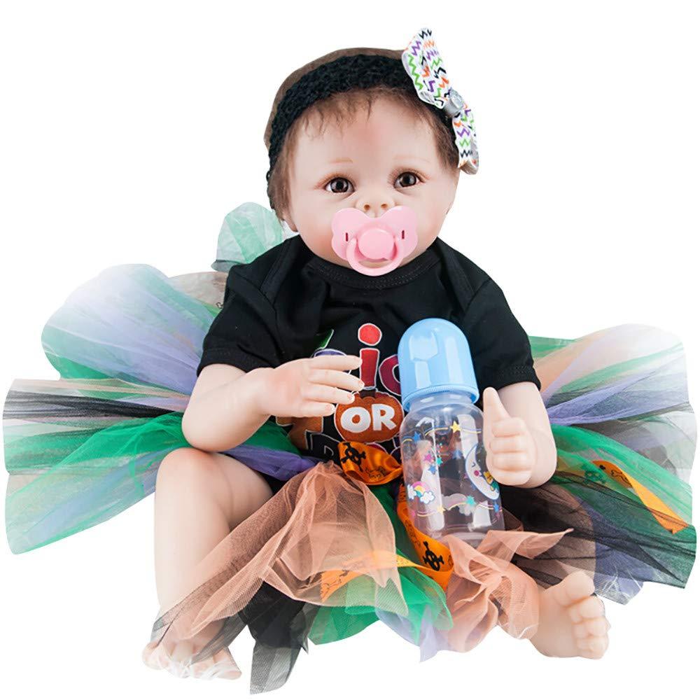 絶対一番安い Dirance 子供用ギフト 22インチ 22インチ 生きているようなリボーンドール スリーピングソフトシリコンパーツ ボディ リアルなクリスマスガールドール ビニール製 3歳以上 本物そっくり 新生児 ベビードール衣装 子供用ギフト 3歳以上 100ドル以下 (1個) B07HJ7QL6H, 湯浅町:f6721e81 --- a0267596.xsph.ru