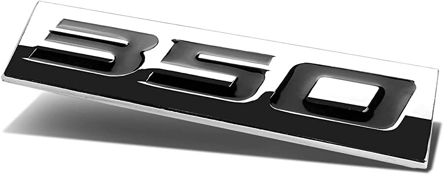 1x 3D Chrome Finish Metal 4.6L Emblem Alloy Badge Sticker Black