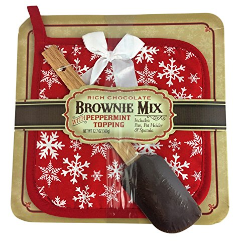 Rich Chocolate Brownie Mix with Peppermint Topping Baking Gift Set