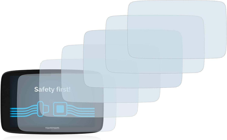 Savvies 6X Schutzfolie kompatibel mit Tomtom Go Professional 520 Displayschutz-Folie Ultra-transparent