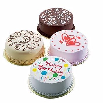 Pochoir A Gâteau 4 Pieces Taille 20 Cm Idéal Pour La Patisserie