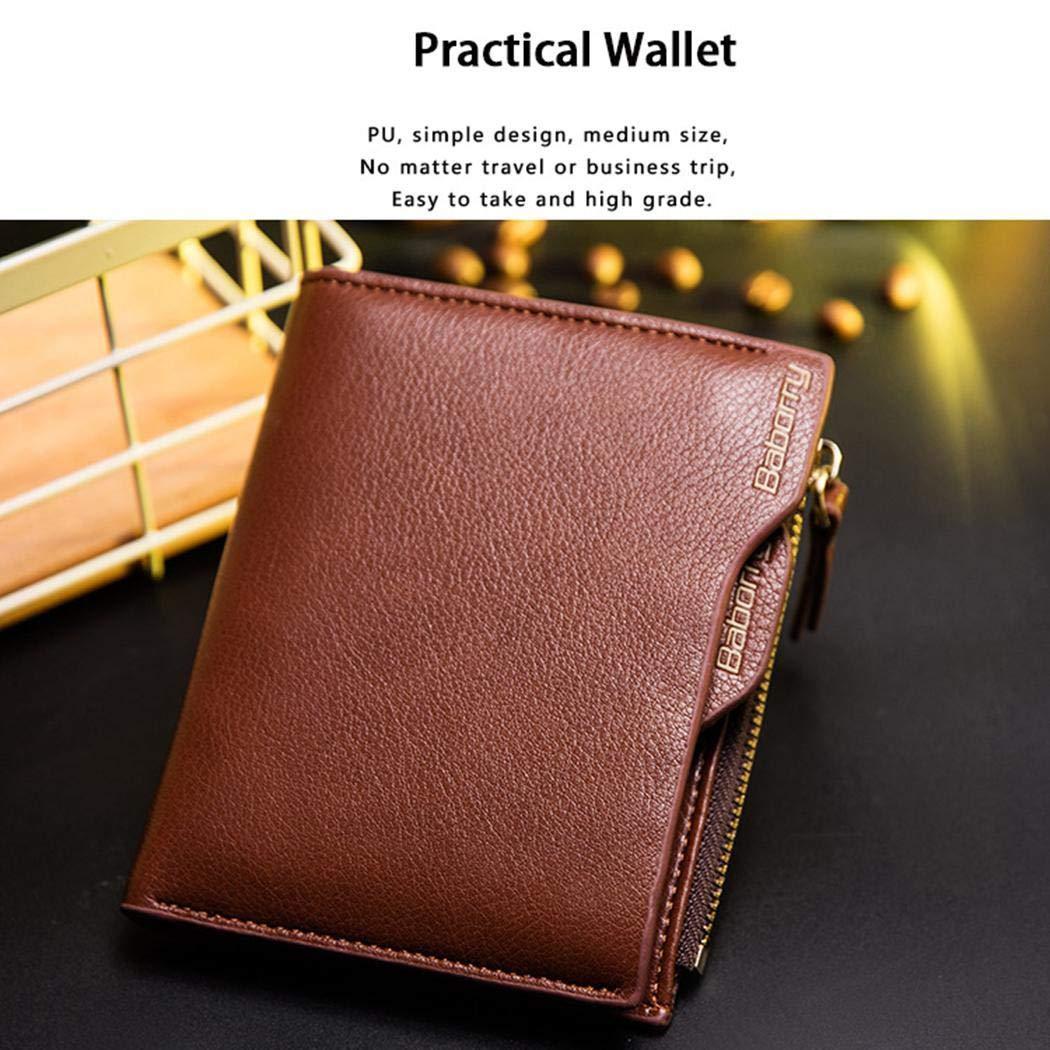 Kindes Men Fashion Square Print Anti-magnetic Bi-Fold Wallet Short Wallet Wallets