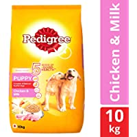 Pedigree Puppy Dry Dog Food, Chicken & Milk – 10 kg Pack