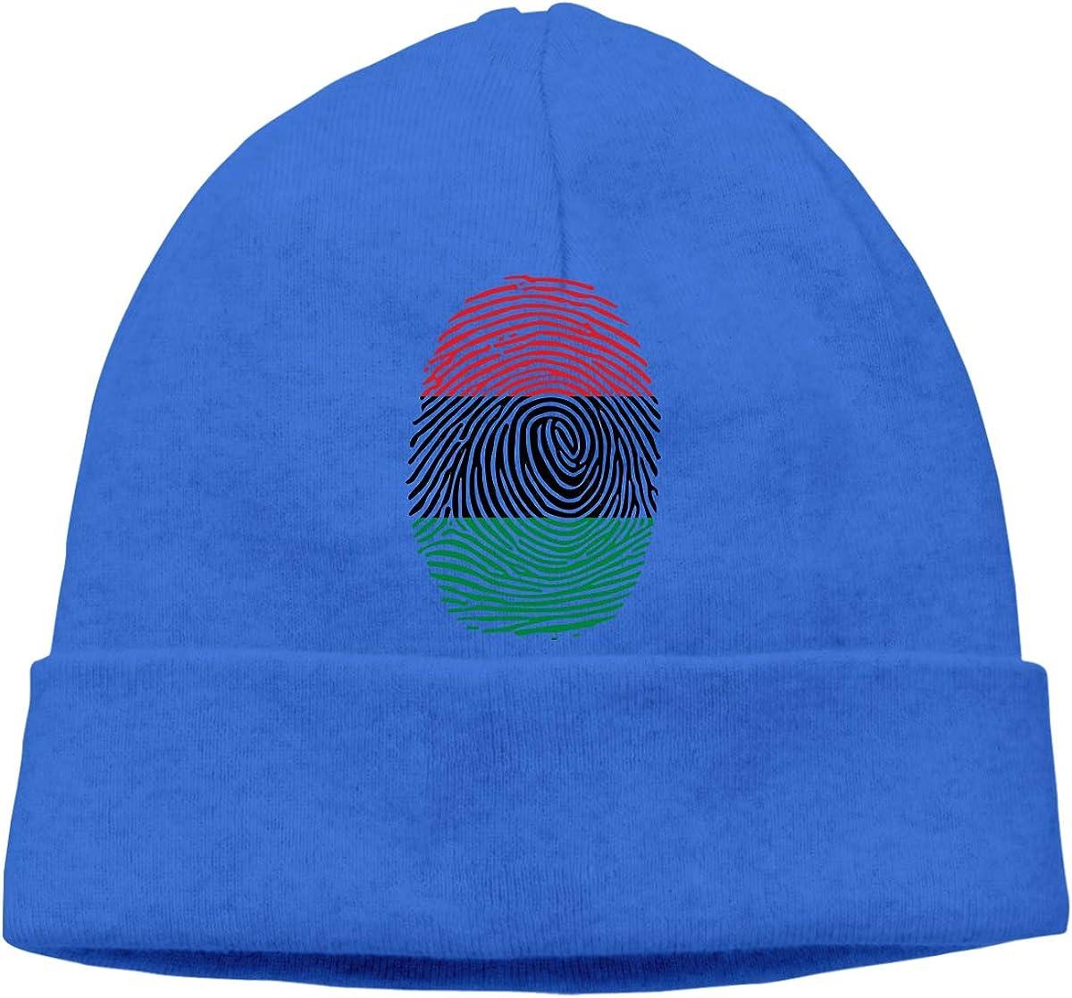 Beanie Hat Pan Africa Fingerprint Warm Skull Caps for Men and Women