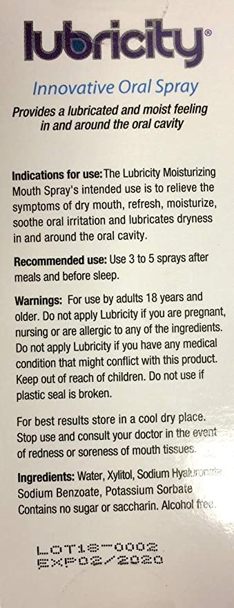 Amazon.com: Lubricity Dry Mouth Oral Spray – 2 oz: Home ...