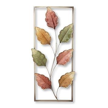 Amazon.com: Metal Autumn Leaves Wall Decor: Home & Kitchen