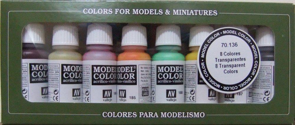 Vallejo Transparent Paint Set, 17ml