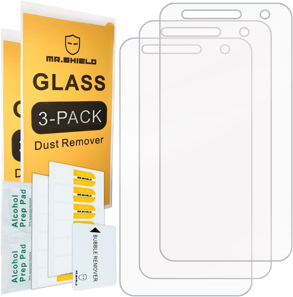 [3-Pack]-Mr.Shield for LG X Charge [Tempered Glass] Screen Protector [Japan Glass with 9H Hardness] with Lifetime Replacement